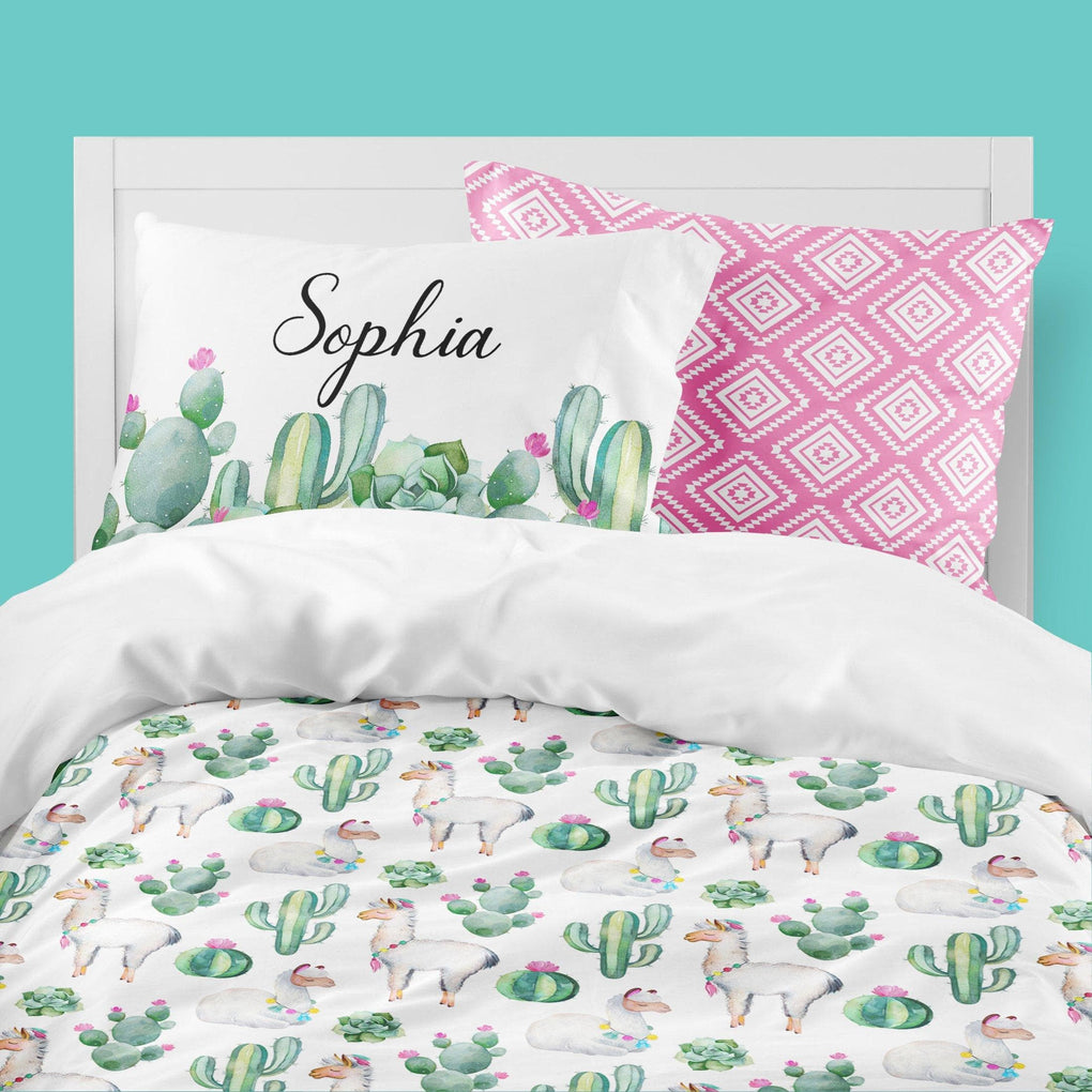 Personalized Llama Love Big Kid Bedding Set Big Kid Bedding Modified Tot