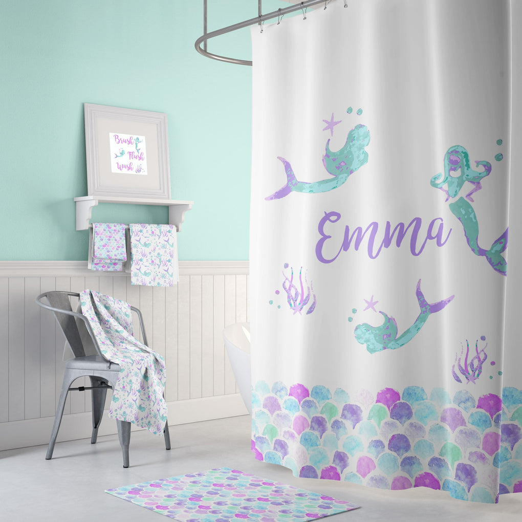 Personalized Mermaid Bathroom Collection Bathroom Collection Modified Tot