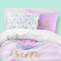 Personalized Mermaid Big Kid Bedding Set Big Kid Bedding Modified Tot