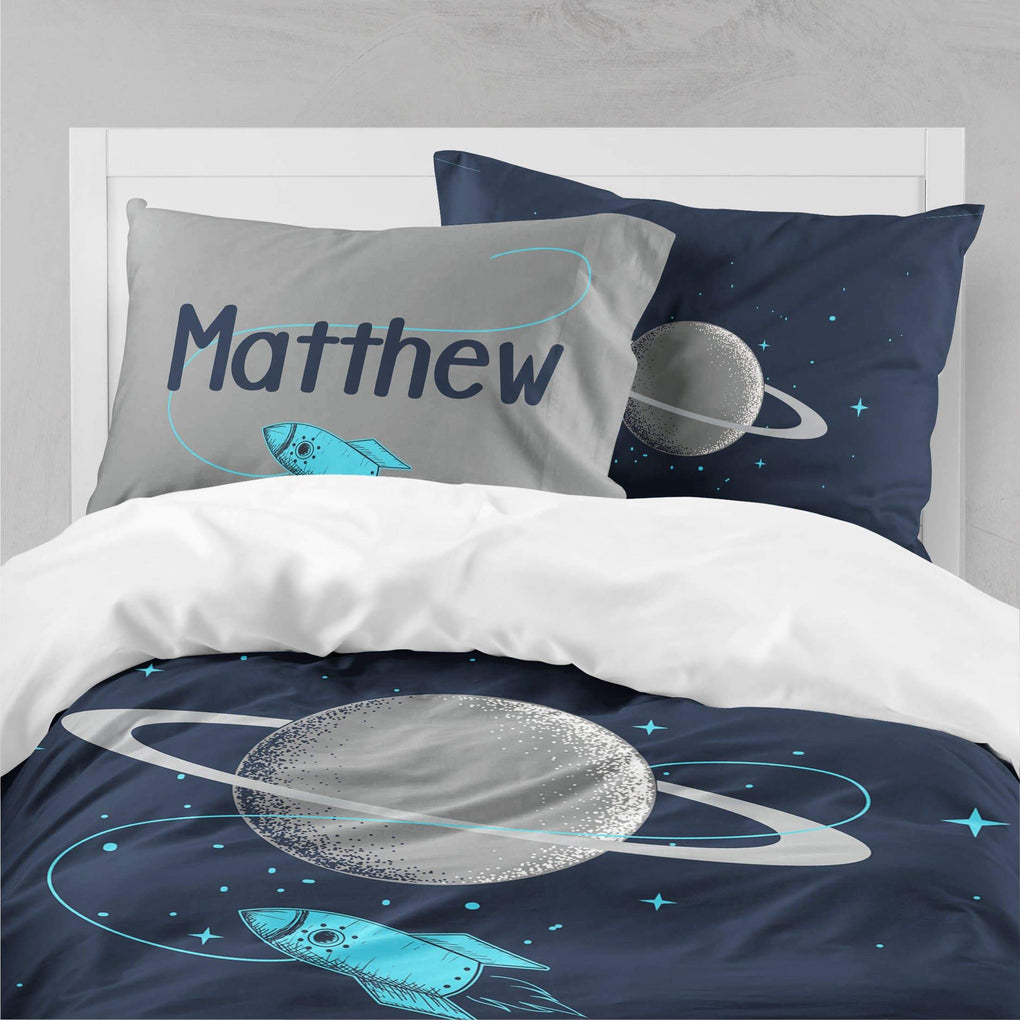 Personalized Saturn Big Kid Bedding Set Big Kid Bedding Modified Tot