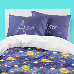 Personalized Solar System Big Kid Bedding Set Big Kid Bedding Modified Tot