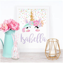 Personalized Unicorn Face Art Print (Download) download Modified Tot