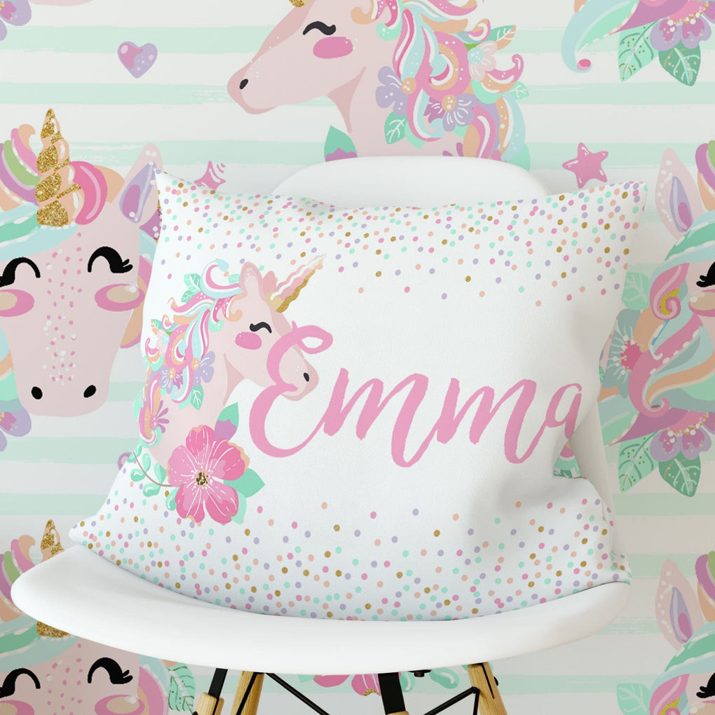Personalized Unicorn Pillow Accessories Modified Tot