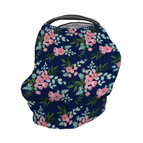 Pink and Navy Petals Car Seat Cover Car Seat Cover Modified Tot