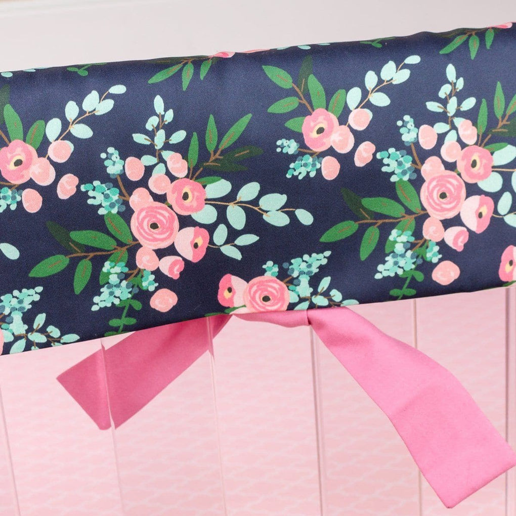 Pink and Navy Petals Rail Guards Rail Guards Modified Tot