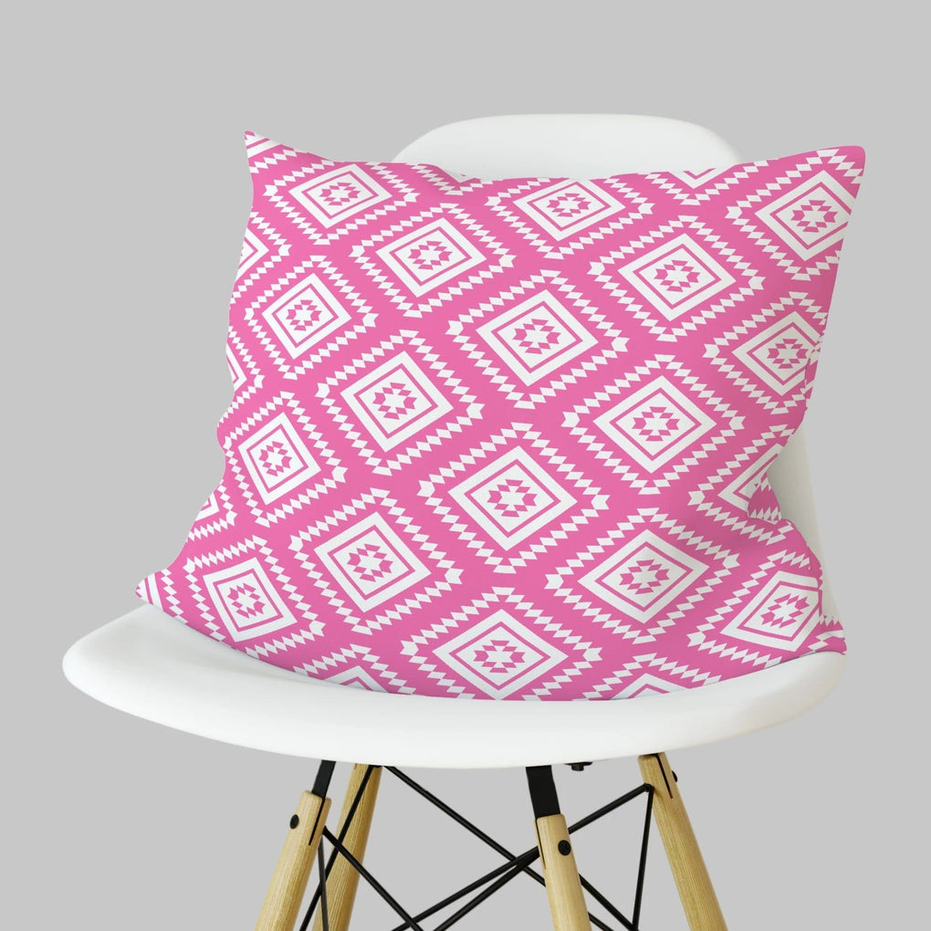Pink Aztec Pillow Throw Pillow Modified Tot