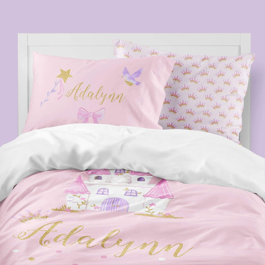 Pink Princess Big Kid Bedding Set Big Kid Bedding Modified Tot