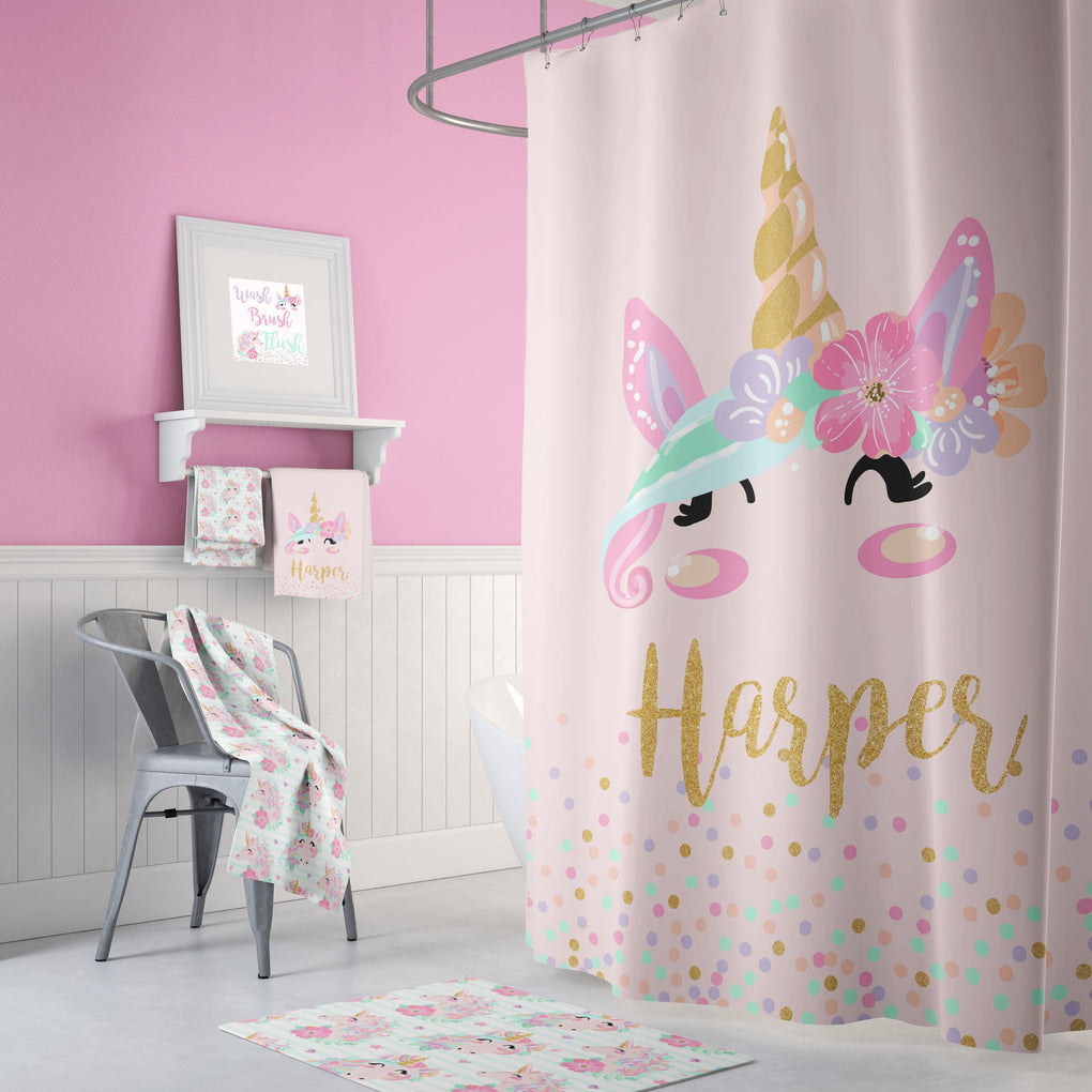 Pink Unicorn Bathroom Collection Bathroom Collection Modified Tot