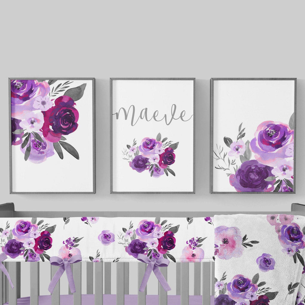 Purple Floral Wall Art Trio (Download) download Modified Tot