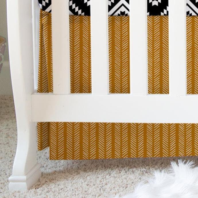 Rust Herringbone Crib Skirt Crib Skirt Modified Tot