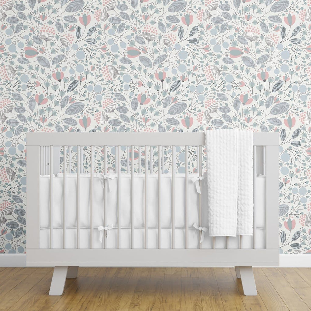 Scandinavian Flora Removable Wallpaper Wallpaper Modified Tot