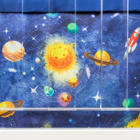 Solar System Crib Skirt Crib Skirt Modified Tot