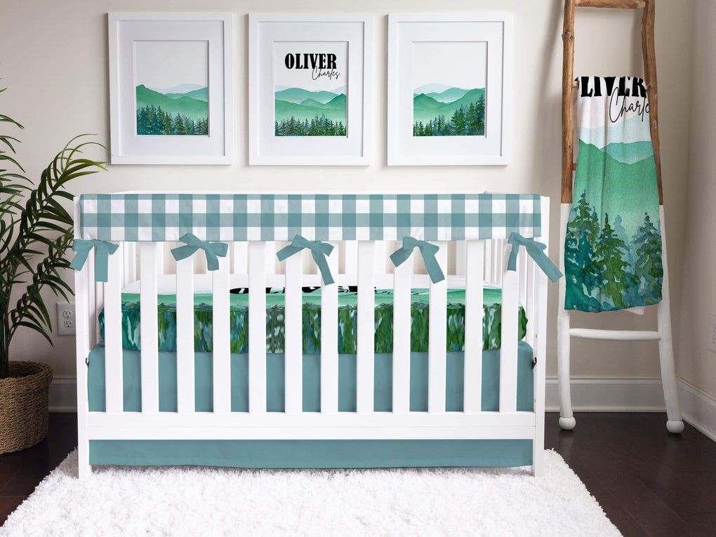 Solid Turquoise Crib Skirt Crib Skirt Modified Tot