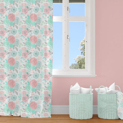 Spring Floral Curtain Panel Curtain Panels Modified Tot