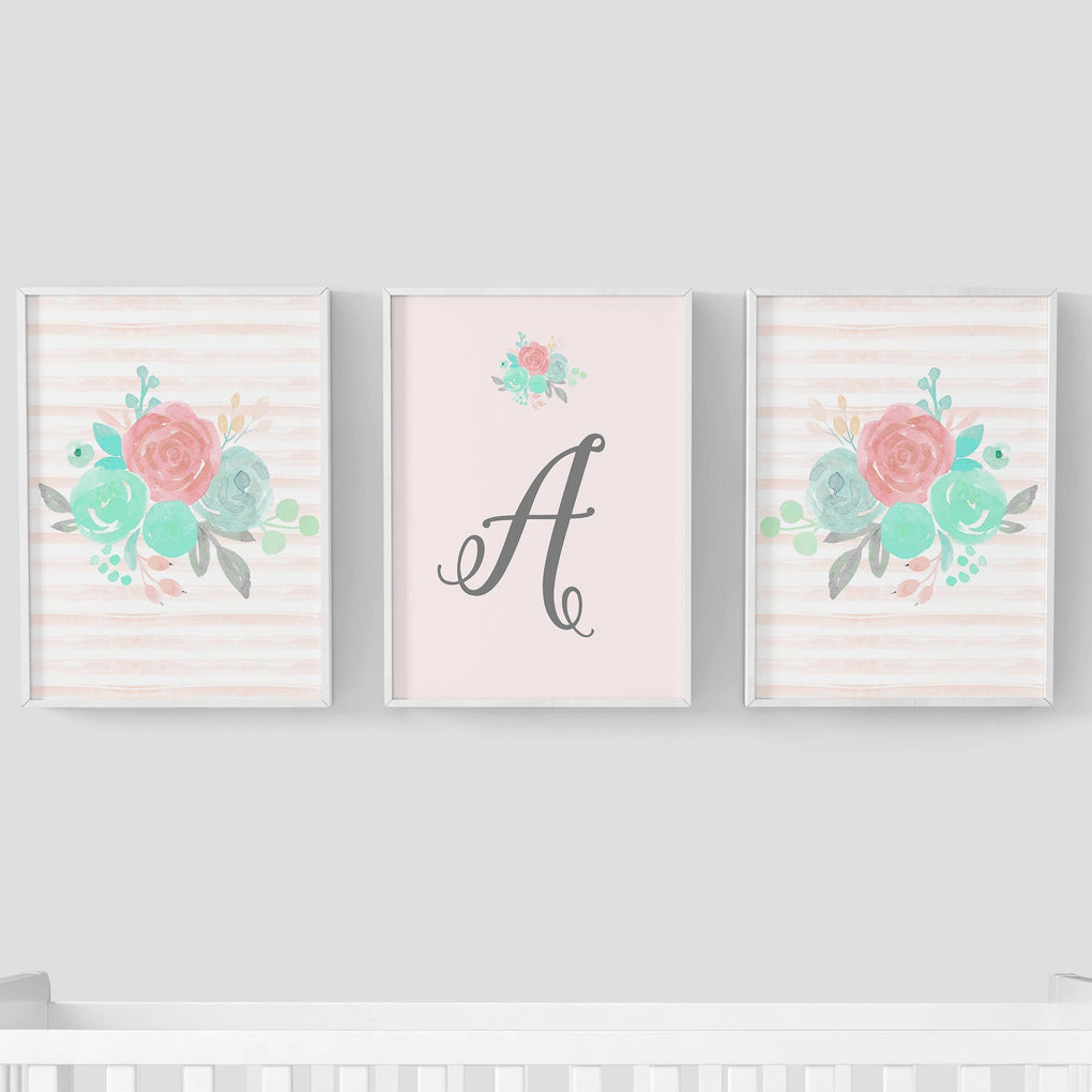 Spring Mint Floral Wall Art Trio (Download) download Modified Tot