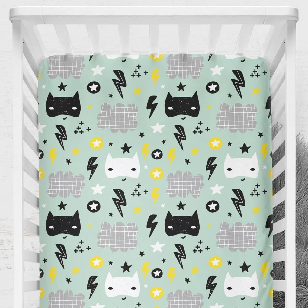 Super Hero Crib Sheet Crib Sheet Modified Tot