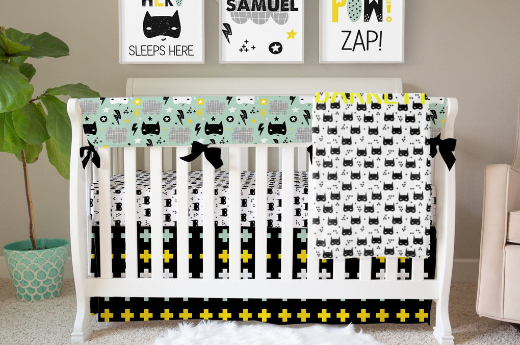 Super Hero Rail Guard Crib Bedding Crib Bedding Modified Tot