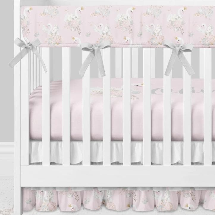 Swan Lake Crib Bedding (3 Pcs: Rail Guards, Sheet, Skirt) Crib Bedding Modified Tot