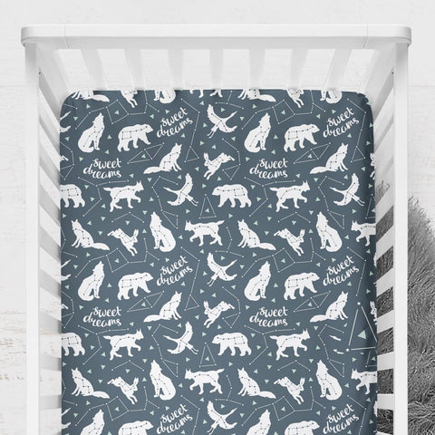 Sweet Dreams Constellation Crib Sheet Crib Sheet Modified Tot