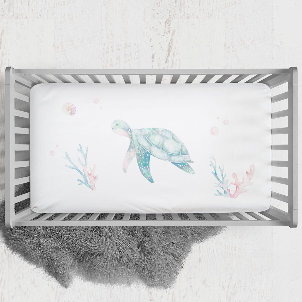 Sweet Sea Turtles Crib Sheet Crib Sheet Modified Tot