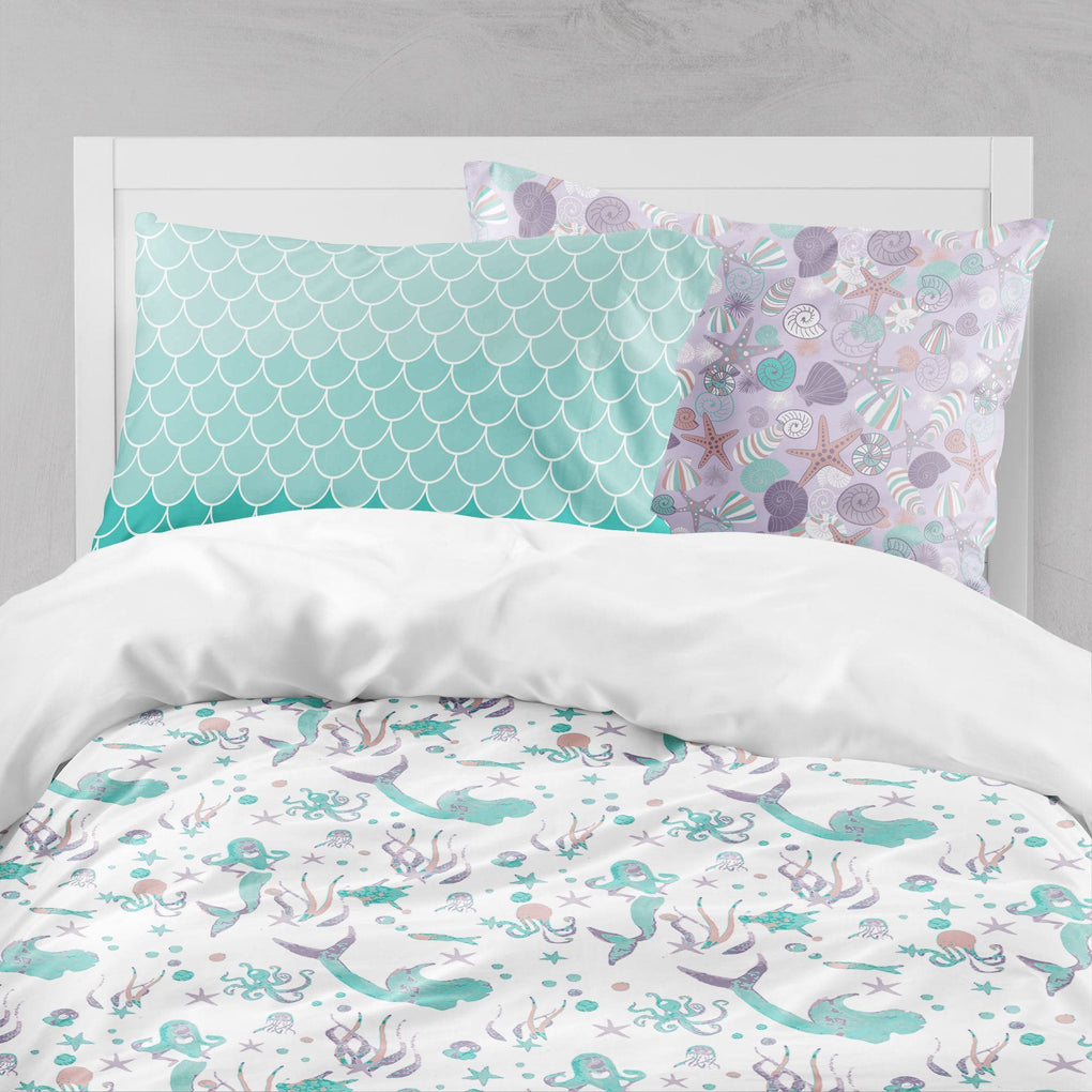 Swimming Mermaids Big Kid Bedding Set Big Kid Bedding Modified Tot