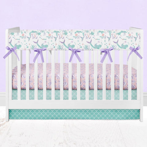 Swimming Mermaids Crib Bedding Rail Guards Crib Bedding Modified Tot