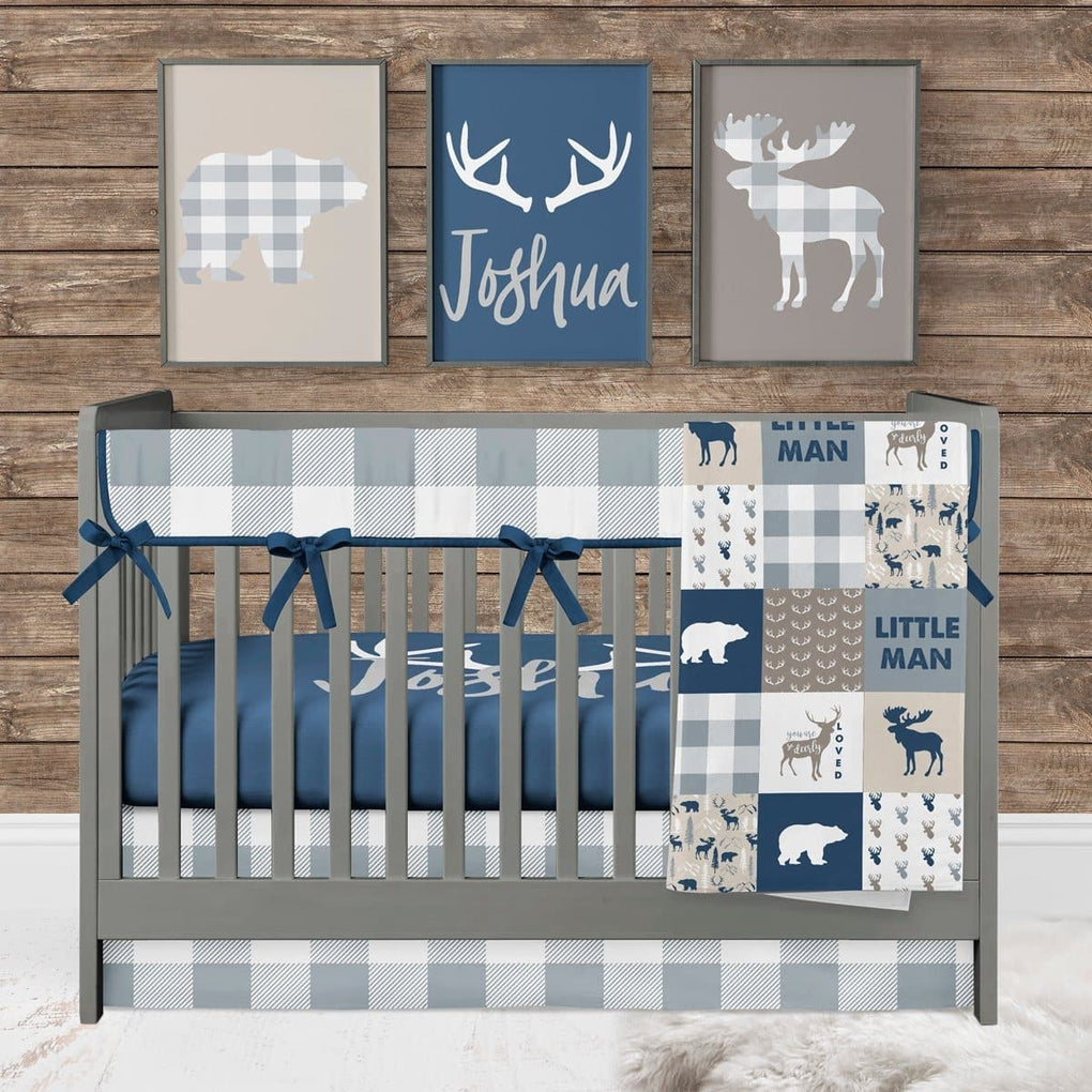 The Woodlands Buck Personalized Crib Sheet Crib Sheet Modified Tot