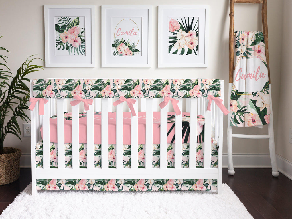 Tropical Floral Crib Bedding Crib Bedding Modified Tot