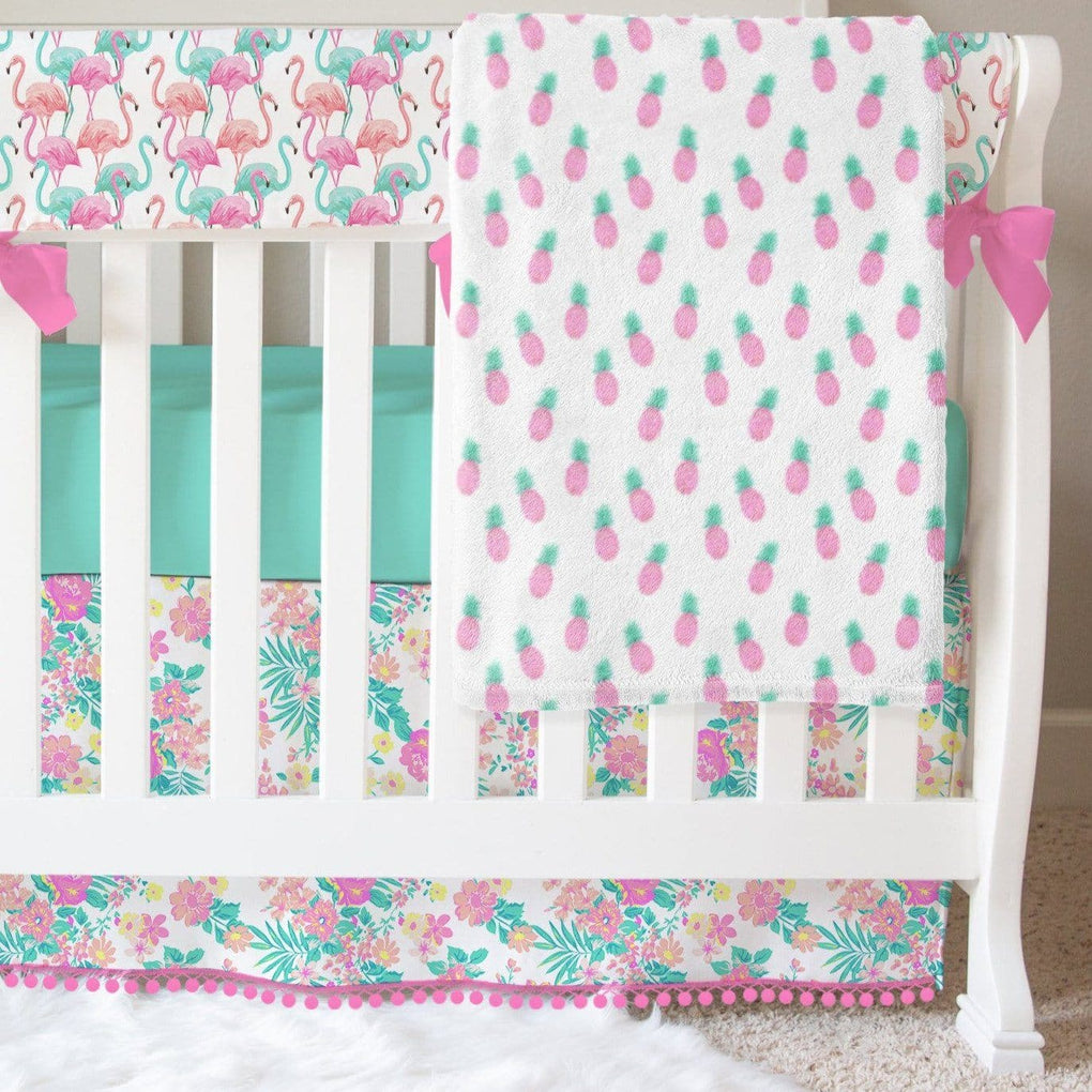 Tropical Paradise Floral Crib Bedding Crib Bedding Modified Tot