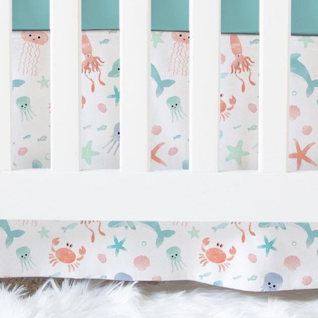 Under the Sea Crib Skirt Crib Skirt Modified Tot