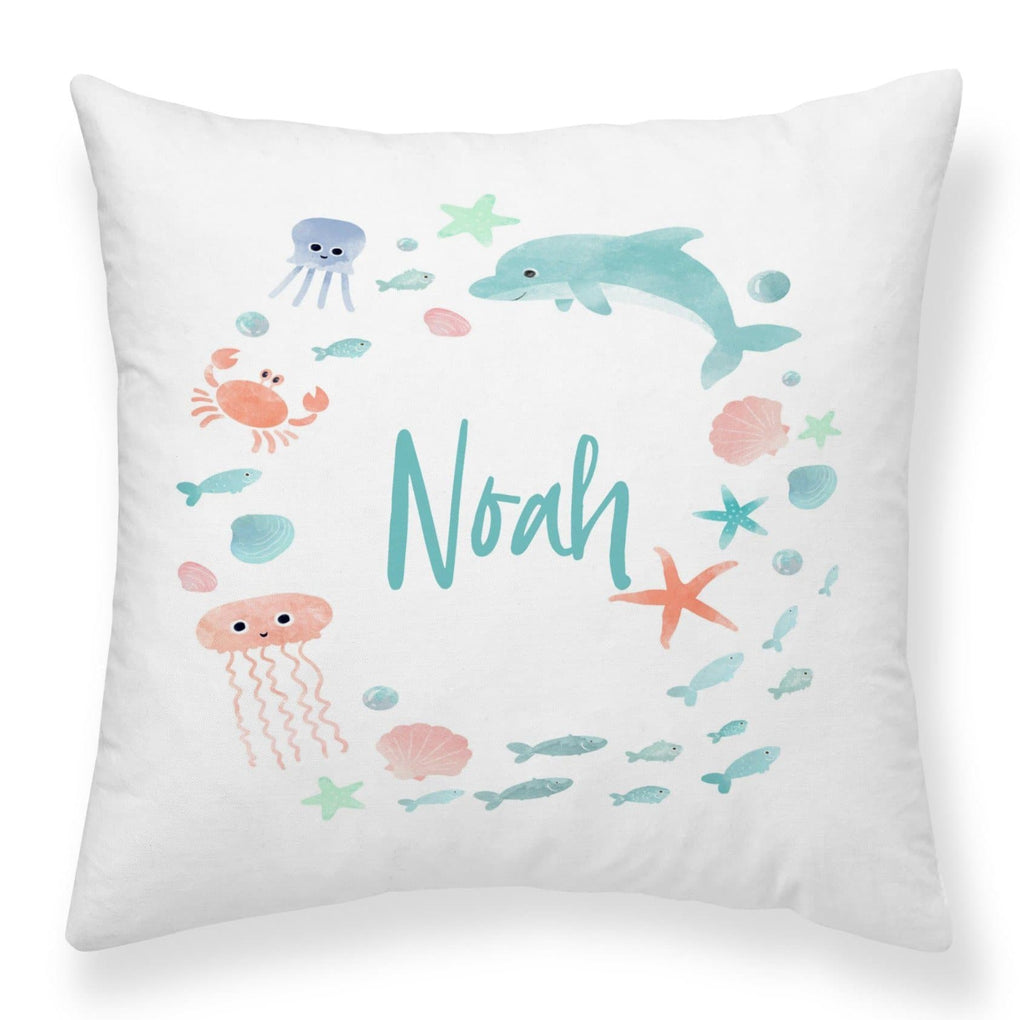 Under the Sea Personalized Pillow Throw Pillow Modified Tot