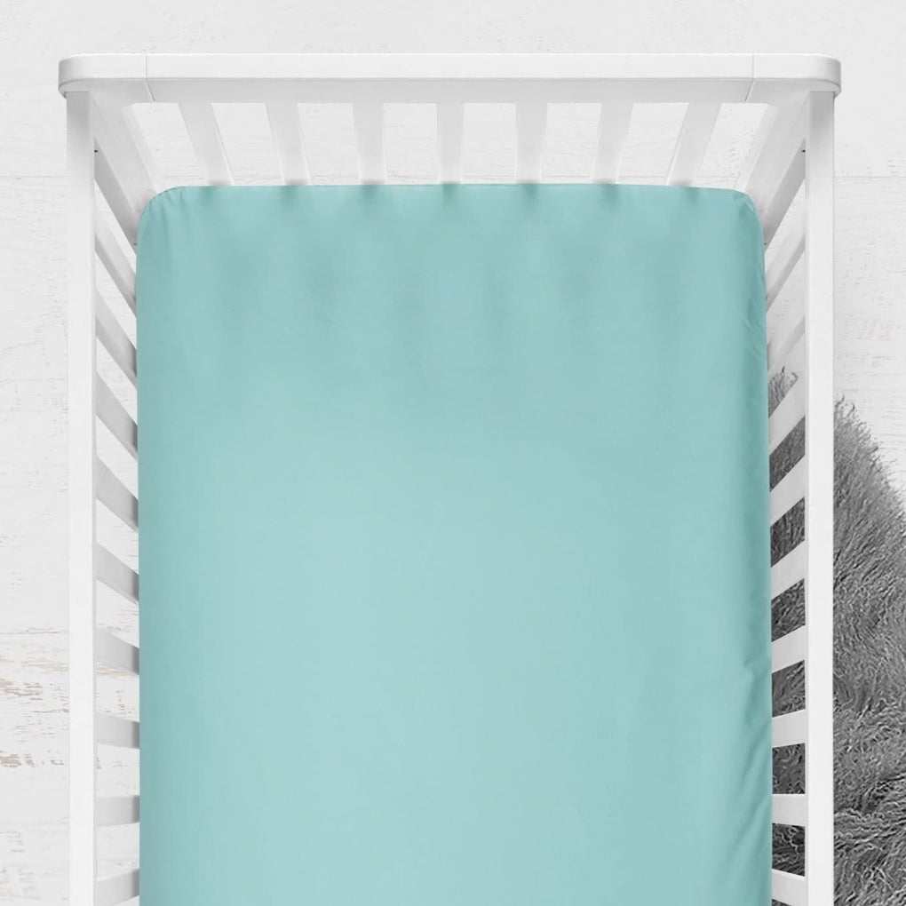 Under the Sea Solid Pool Crib Sheet Crib Sheet Modified Tot