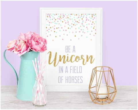 Unicorn Art Print Trio (Download) download Modified Tot