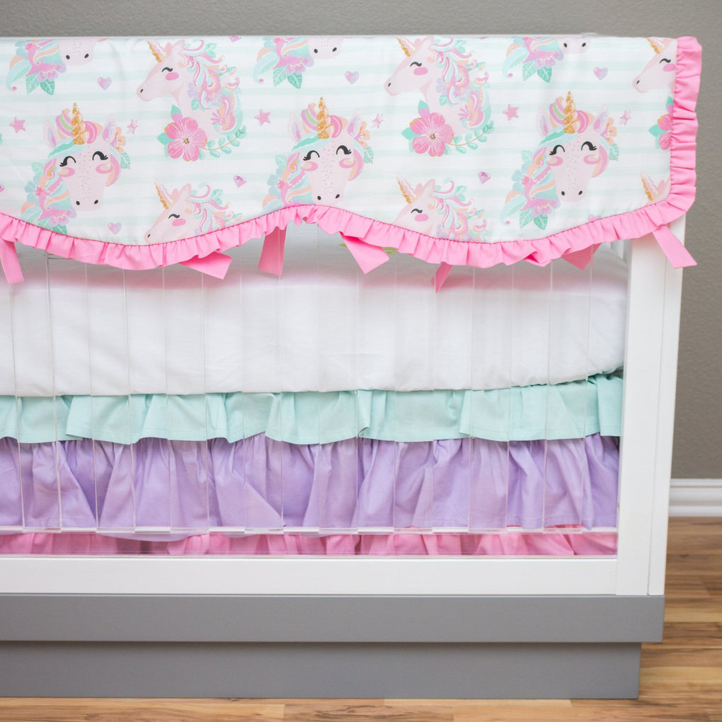 Unicorn Dreams Rail Guards Crib Bedding Modified Tot
