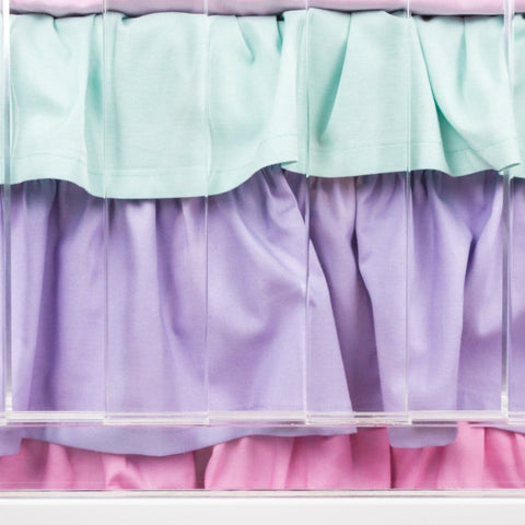Unicorn Dreams Ruffled Crib Skirt Crib Bedding Modified Tot