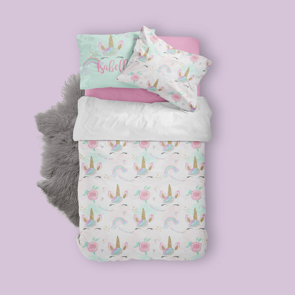 Unicorn & Rainbows Big Kid Bedding Set Big Kid Bedding Modified Tot