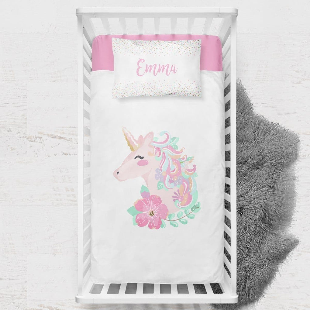 Unicorn Toddler Bedding Set Big Kid Bedding Modified Tot