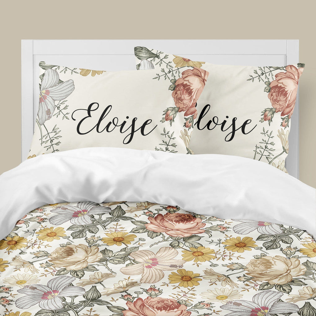 Vintage Floral Big Kid Bedding Set Big Kid Bedding Modified Tot
