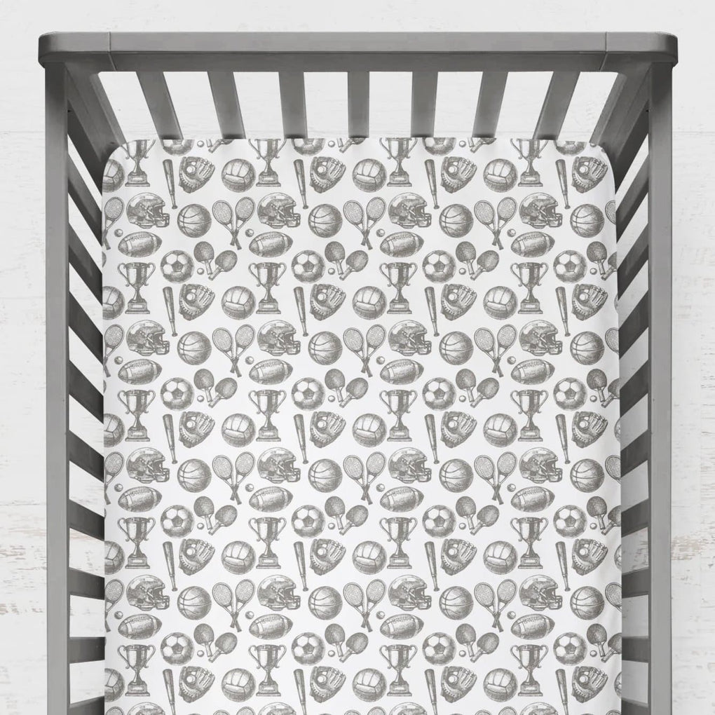 Vintage Sports Crib Sheet Crib Sheet Modified Tot