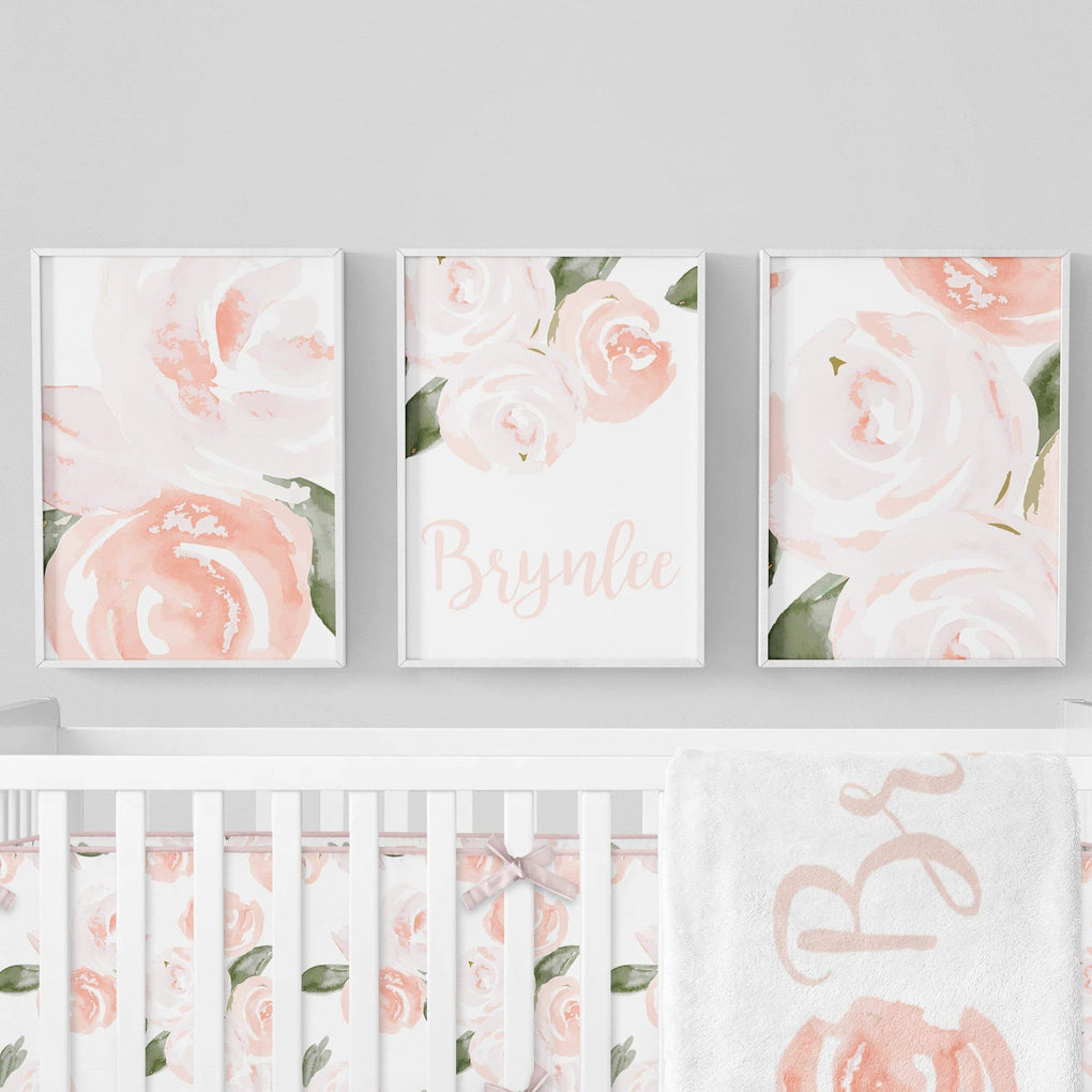 Watercolor Floral Art Print Trio (Download) download Modified Tot