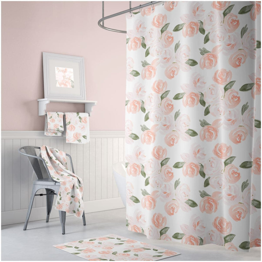 Watercolor Floral Bathroom Collection Bathroom Collection Modified Tot