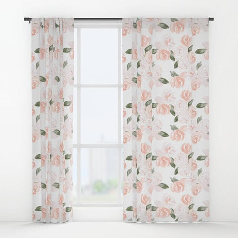 Watercolor Floral Curtain Panel Curtain Panels Modified Tot