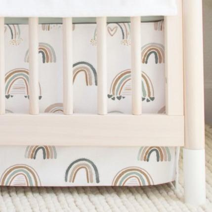 Watercolor Rainbow Crib Skirt Crib Skirt Modified Tot