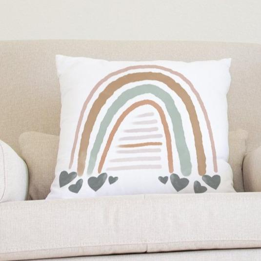 Watercolor Rainbow Pillow Throw Pillow Modified Tot