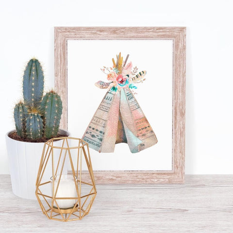 Watercolor Teepee Art Print (Download) download Modified Tot