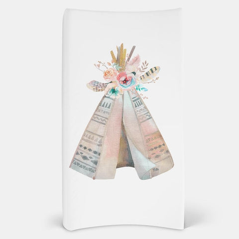 Watercolor Teepee Changing Pad Cover Changing Pad Covers Modified Tot