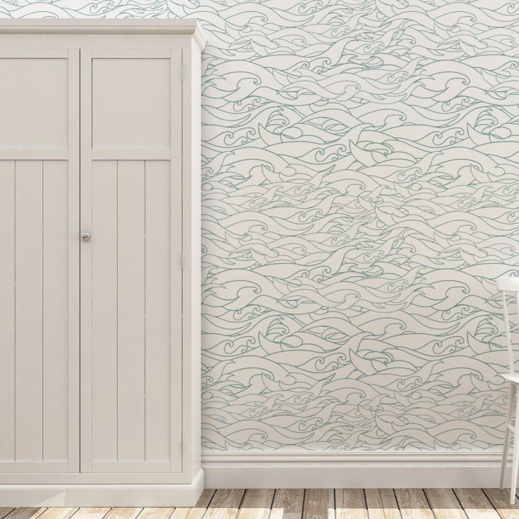 Waves Removable Wallpaper Accessories Modified Tot