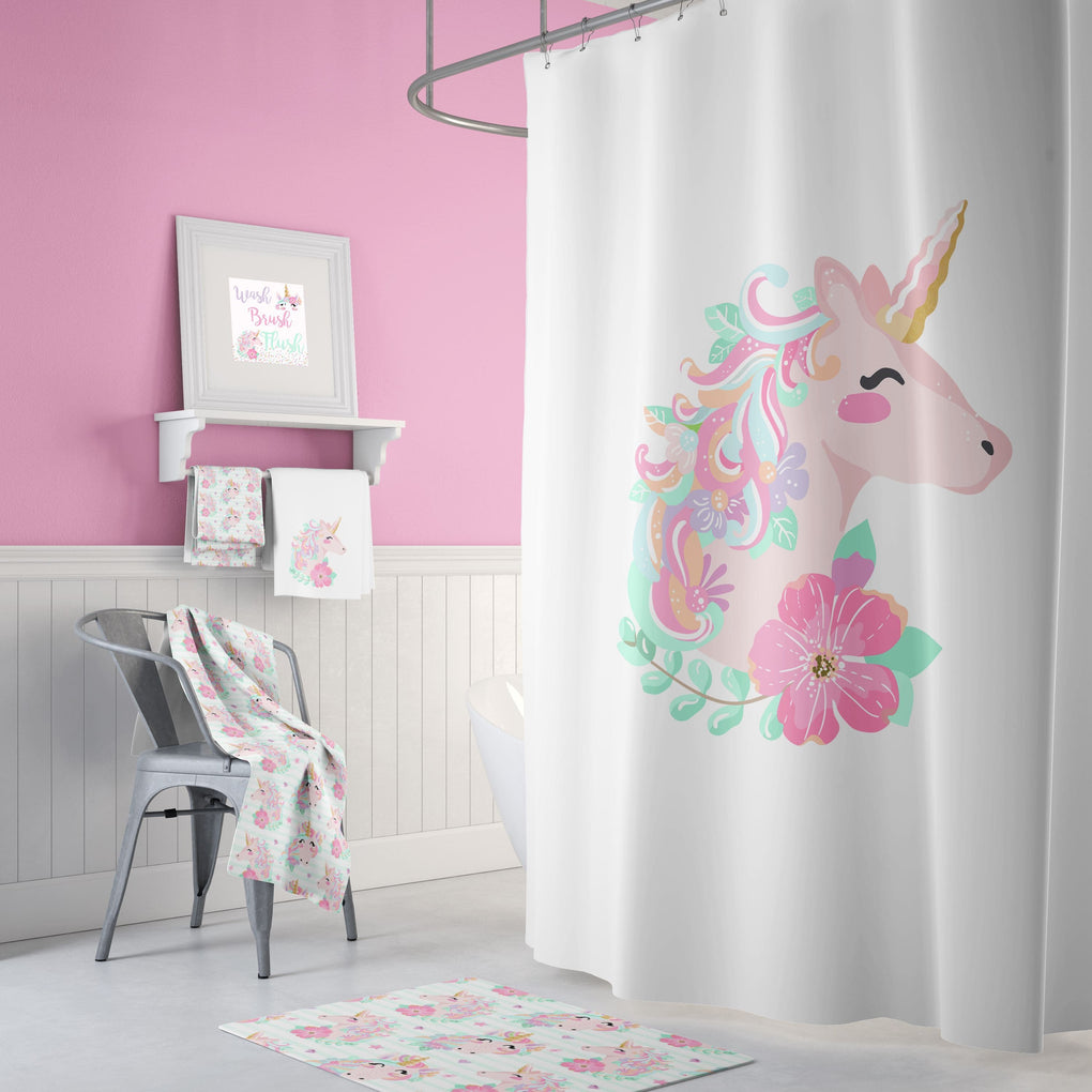 White Unicorn Bathroom Collection Bathroom Collection Modified Tot