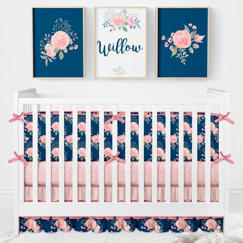 Wildflowers Bumper Crib Bedding Crib Bedding Modified Tot