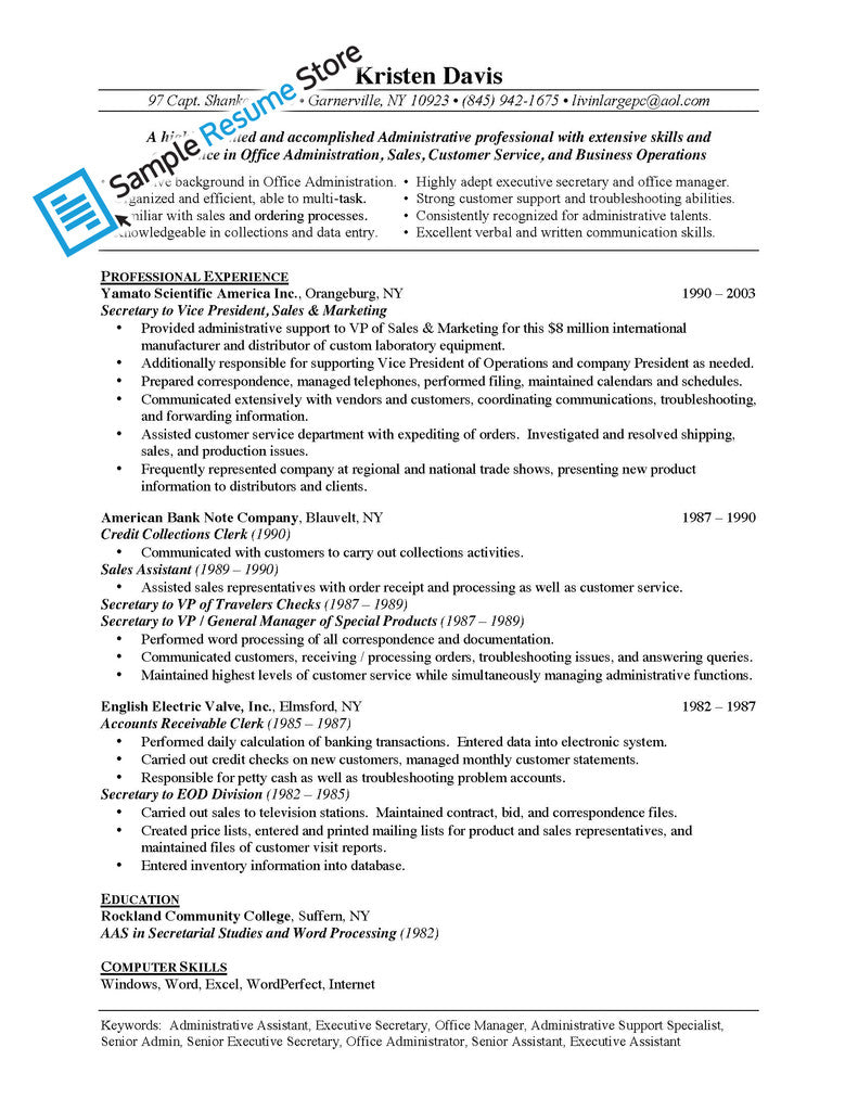 administrative assistant resume template medical resume